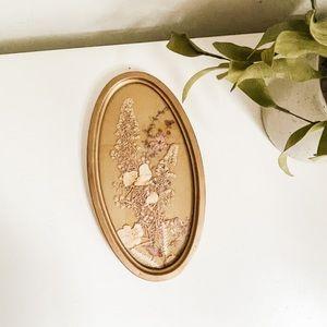 Vintage pressed floral art